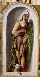 Paolo Veronese (1528-1588) Saint John the Baptist, about 1560 Oil on canvas 247 × 122 cm Galleria Estense, Modena (4188) © Courtesy of the Ministero dei Beni e delle Attività Culturali e del Turismo - Archivio  Fotografico della SBSAE di Modena e Reggio Emilia