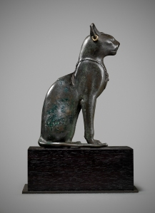 Egyptian bronze seated cat Late Dynastic Period 25th-31st Dynasty, 715-332 BC Height: 14.4 cm Rupert Wace Ancient Art
