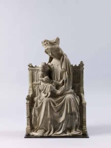 Virgin and Child Enthroned, c. 1380 France, Paris Limestone with traces of polychromy Height: 66; width: 42; depth: 19 cm Sam Fogg
