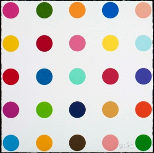 Thr-Ser by Damien Hirst. Woodcut print. Edition of 55. £3,840 at Manifold Edition