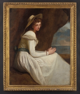 GEORGE_ROMNEY_(1734-1802)_Portrait_of_Emma_Hamilton_as_ 'Absence'_Philip_Mould