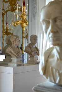 View of the exhibition Fame and Friendship: Pope, Roubiliac and the Portrait Bust in Eighteenth-Century Britain at Waddesdon Manor, The Rothschild Collection (The National Trust). Photo: © Richard Bryant/arcaidimages.com