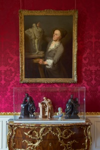 Statuette's of Shakespeare and Pope by John Cheere and Louis-François Roubiliac on loan from the Castle Museum, York and the Victoria and Albert Museum, London. Photo: © Richard Bryant/arcaidimages.com