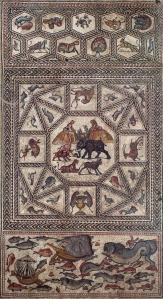 The Lod floor mosaic, late third C.E., Israel Antiquities Authority.  Photo: © Israel Antiquities Authority / Nicky Davidov