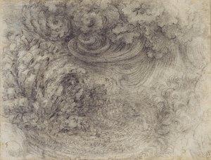 Leonardo da Vinci A Deluge c. 1517-18 Royal Collection Trust / © Her Majesty Queen Elizabeth II 2014