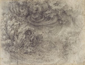 Leonardo da Vinci A Deluge c. 1517-18 Royal Collection Trust / © Her Majesty Queen Elizabeth II 2014