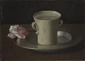 Francisco de Zurbaran A cup of Water and a Rose © The National Gallery, London