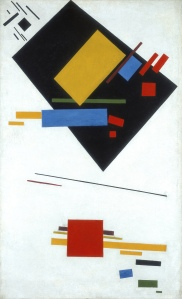 Kazimir Malevich (1878 - 1935) Suprematist Painting (with Black Trapezium and Red Square) 1915 Stedelijk Museum, Amsterdam