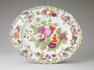 Chelsea Porcelain Manufactory, oval dish from a dessert service, 1752-6 Royal Collection Trust / copyright Her Majesty Queen Elizabeth II 2014.
