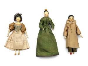 Princess Victoria's home-made wooden dolls Royal Collection Trust / (C) Her Majesty Queen Elizabeth II 2014.