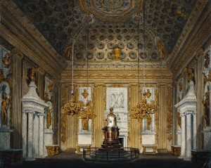 R Cattermole, The Cupola Room, Kensington Palace, c. 1817 Image copyright of Royal Collection Trust/c Her Majesty Queen Elizabeth II 2013.