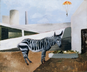 Christopher Wood, Zebra and Parachute, 1930, oil on canvas, 55.4 x 61.2 cm, © Tate, London 2013