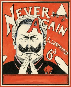 Never Again! G. R. Halkett, 1915, Cartoon Museum Collection. Donated by the ArtFund. ©