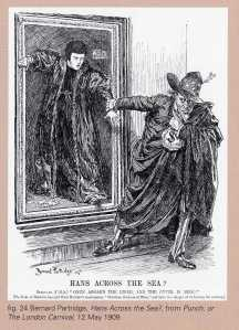 Punch cartoon of the threatened sale of Holbein's Christina Duchess of Milan to Henry Clay Frick in 1909