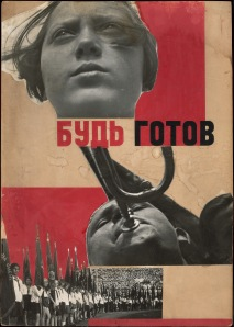 Varvara Stepanova Photomontage 'Beready!' 1932 Using photographs by A. Rodchenko Courtesy of a Private Collection