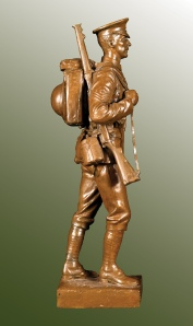 George Edward Wade (1853-1933), Sergeant of the Grenadier Guards in Marching Order , Plaster, 17 in. (43 cm) high