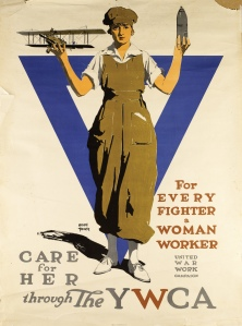 Adolph Treidler (1886-1981) For every fighter a woman worker - care for her through the YWCA, c.1918, Lithograph, 40 x 30in. (101.6 x 76.2 cm)