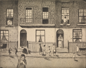 Any London Street, 1922 / Etching / 13.8 x 17.4 cm
