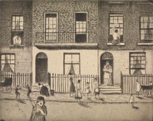 Any London Street, 1922 / Etching / 13.8 x 17.4 cm