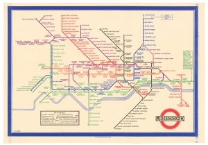 Harry Beck- Map of London's Underground Railways, January 1933. 142 x 202mm (5.5 x 8 inches). £2,500