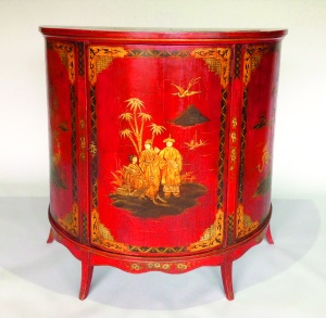 Brookes-Smith Japanned commode,  c1840 @Chelsea Antiques Fair