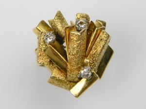 DB Gems 1970's 18ct Gold & Diamond Ring @Chelsea Antiques Fair