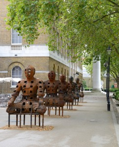 Xavier Mascaró Guardians 2010 Iron  Each 290cm x 190cm x 125cm Image courtesy of the Saatchi Gallery, London (c) Justin Piperger, 2014