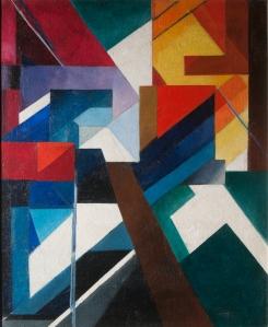 ALEXANDRA EXTER (1882-1949) PAINTERLY CONSTRUCTION Oil on canvas 88 x 72 cm 1921
