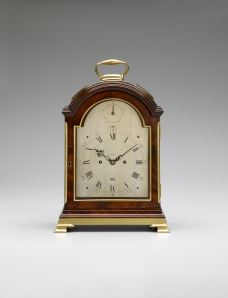 Fine George III mahogany table  clock by J & F Vigne, London, c. 1795, from Montpellier Clocks-1
