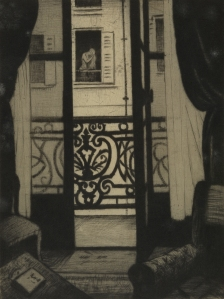 (From) A Paris Window / Etching & drypoint / 20.2 x 15.2 cm