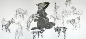 The Last Supper:  Monotype on paper 210cm x 100cm  ©