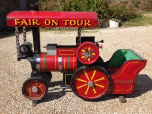 1930/40s carousel ride train, approx. 5ft long and 2.6ft tall. North Country, original condition train. Peter Bunting