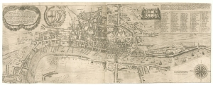 Thomas Porter- The Newest and Exactest Mapp of the most Famous Citties London and Westminster with their Suburbs. London, c.1655. £28,000.00.