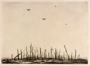 That Cursed Wood, 1918 / Drypoint / 25 x 34.7 cm