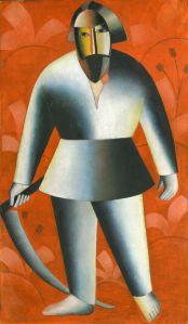 Kazimir Malevich (1878 - 1935) The Scyther (Mower) 1912 Nizhnii Novgorod State Art Museum (Russia)
