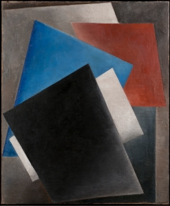 ALEXANDER VESNIN (1883 – 1959) COLOUR COMPOSITION Oil on canvas 107 x 89.5 cm 1917-18