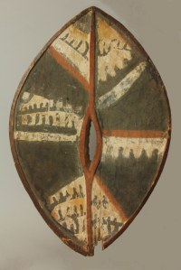 Ceremonial shield. Kikuyu tribe, Kenya.  £17,000 Provenance: Collection of Rolf de Mare (Sweden). Clive Loveless and Bryan Reeves/Tribal Gathering