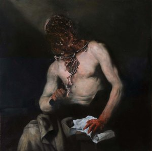 'Canton' by Nicola Samorì, 2014, oil on copper, 100x100cm