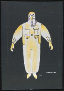 Costume design for Bedbug     1929     Alexander Rodchenko     © A. A. Bakhrushin State Central Theatre Museum