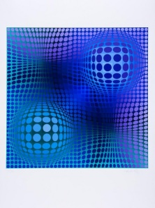 Lot 264: Victor Vasarely (1908-1997) Hommage to Picasso Screenprint in colours, 1973, signed in pencil, numbered 75/90 Est. £300-500
