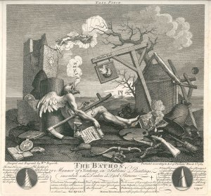 WILLIAM HOGARTH (1697-1764) The Bathos, or Manner of Sinking, in Sublime Paintings, inscribed to the Dealers in Dark Pictures 3 March 1764 Etching & engraving Exceptional impression, the fine lines in the sky above the gallows still printing P.216 only state Andrew Edmunds