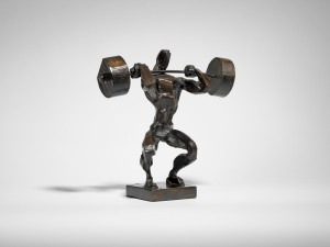 Clean and Jerk. Bronze, Small, Edition of 9