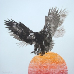 """Eagle's Descent"" by John Simpson, Serigraph, 69 x 69 cm, edition of 50. £750 at Art of Treason"