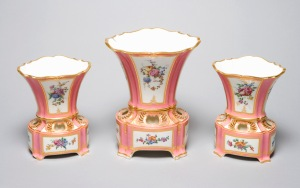Garniture of three Flower Pots credit: Harewood House Trust
