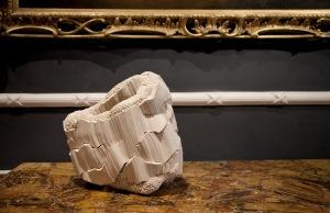 Simone Pheulpin  Textile Sculpture Anfractuosités (Crevice) 40 x 40cm