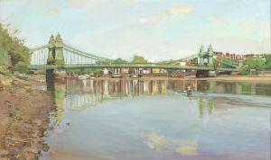 Luke Martineau Hammersmith Bridge oil on canvas 24 x 0 x 40 ins (61 x 0 x 0 cms)