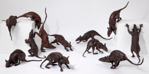 Rat Group. Bronze, Edition of 9