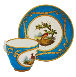 A set of 12 cups and saucers by Minton, c1870.  Philip Carrol