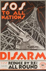 S.O.S. To All Nations - Disarm, League of Nations Union, circa 1920  Framed (ref: 5987)  Lithographic poster, signed Batt 30 x 20 ins.  (76 x 51 cm.)