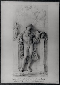 Antonio Maria Zanetti,  Study of a relief decorated with a Hermaphrodite; in the Palazzo Colonna, c. 1721  © The Trustees of the British Museum